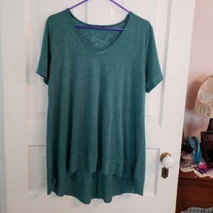 Loose V Neck Ruffled Shirt Top Wallpapher XL